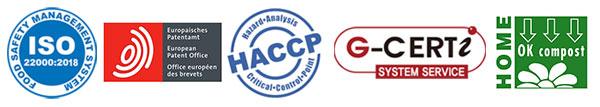 Pailles aux normes ISO 9001, ISO 22000:2018 et HACCP